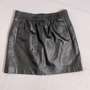 Loft faux leather mini skirt EUC